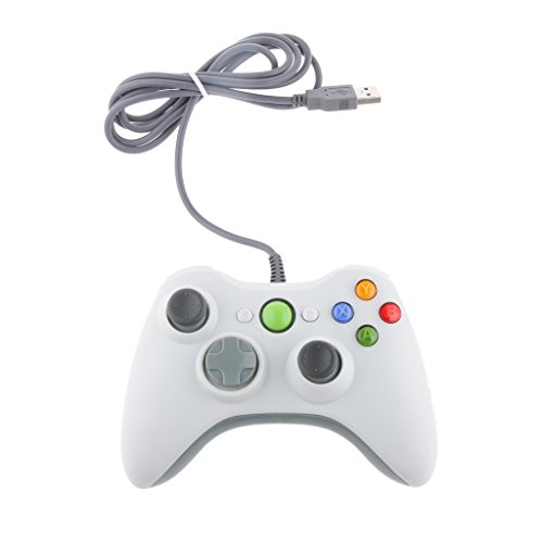 achat contr leur usb jeu pad filaire pour xbox 360 pc windows blanc manette pc. Black Bedroom Furniture Sets. Home Design Ideas