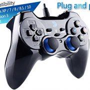 ZD-V-feedback-de-vibration-USB-par-fil-Manette-de-jeu-Gamepad-Controller-Joystick-Pour-PCWindows-XP788110-PS3-Android-Cadre-PS-noir-0-0