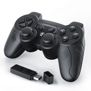 CSL-Manette-de-jeu-pour-PC-sans-fil-wireless-Dual-Vibration-compris-Manette-Joypad-Plug-and-Play-noir-0-0