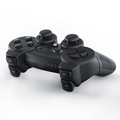CSL-Manette-de-jeu-pour-PC-sans-fil-wireless-Dual-Vibration-compris-Manette-Joypad-Plug-and-Play-noir-0