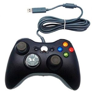 Confortable-Game-Controller-Manette-filaire-Xbox-360-PC-Mac-noir-0