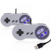 CSL-2-x-Manettes-de-jeu-SNES-USB-Manette-pour-PC-ordinateur-portable-tablette-Design-rtro-gris-0
