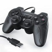 CSL-Manette-pour-PC-Ordinateur-avec-cble-Dual-Vibration-Joypad-Controller-Plug-Play-noir-0-0
