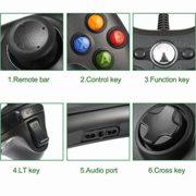 LESHP-Manette-filaire-Xbox-360-Filaire-GamePad-Controller-Manette-du-Contrleur-de-Jeu-Filaire-avec-Double-Vibration-Pour-PC-Android-TV-Box-Xbox-360-Noir-0-0