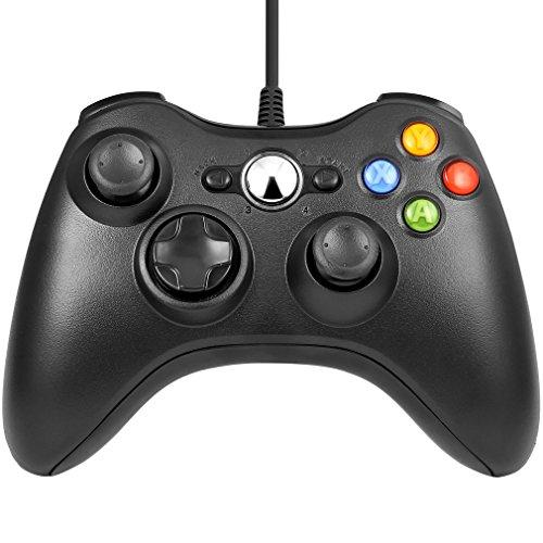 LESHP-Manette-filaire-Xbox-360-Filaire-GamePad-Controller-Manette-du-Contrleur-de-Jeu-Filaire-avec-Double-Vibration-Pour-PC-Android-TV-Box-Xbox-360-Noir-0