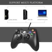 AiMis-Manette-filaire-Xbox-360-USB-Gamepad-Controller-Manette-du-Contrleur-de-Jeu-Filaire-avec-Double-Vibration-pour-Windows7-8-10-PC-Xbox-360Noir-0-0