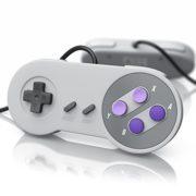 CSL-2x-Manettes-de-jeu-SNES-USB-Manette-pour-PC-ordinateur-portable-tablette-Design-rtro-nouveau-model-gris-0