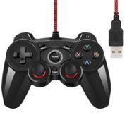 Contrleur-de-Jeu-Filaire-USB-Manette-de-Jeu-pour-PC-Windows-XP7810-et-PS3-et-Android-Noir-Brillant-0-0