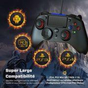 TOPELEK-Manette-PS4-pour-PC-PS3-Cbl-Contrleurs-de-jeu-avec-Trigger-Compatible-avec-Playstaion4-PS3-PC-Windows-XP-78-8110-AndroidSteam-Noir-0-0