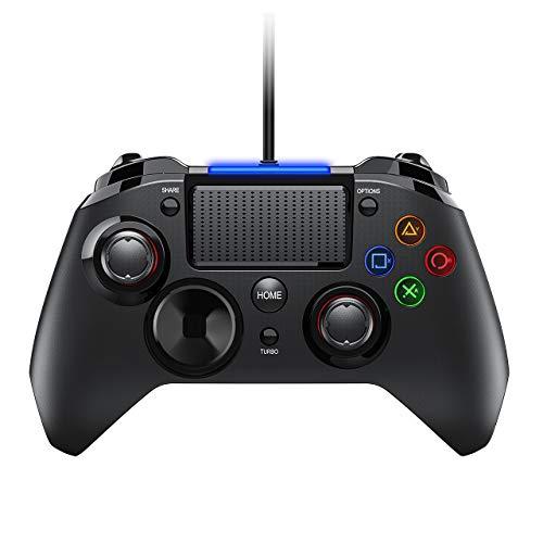 TOPELEK-Manette-PS4-pour-PC-PS3-Cbl-Contrleurs-de-jeu-avec-Trigger-Compatible-avec-Playstaion4-PS3-PC-Windows-XP-78-8110-AndroidSteam-Noir-0