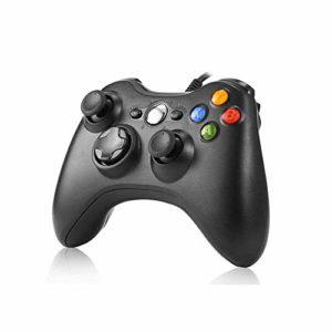 JAMSWALL-Manette-filaire-Xbox-360-Filaire-GamePad-Controller-Manette-du-Contrleur-de-Jeu-Filaire-avec-Double-Vibration-Pour-PC-Xbox-360-Windows-Noir-0