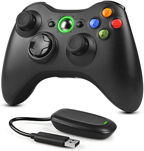 Dhaose-Manette-sans-fil-pour-Xbox-360-et-PC-24-GHz-Manette-de-jeu-amliore-Joystick-Joypad-Tlcommande-pour-Xbox-Slim-360-PC-Windows-7-8-10-0